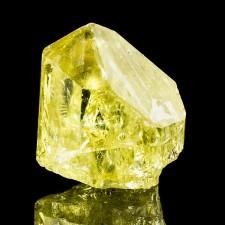 "1.0"" Sharp Sunshine Yellow APATITE Terminated Crystal w-Rainbows Mexico for sale"