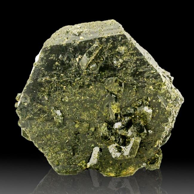 "2.2"" Lustrous Dark OliveGreen EPIDOTE Pseudo Hexagonal Crystal Pakistan for sale"