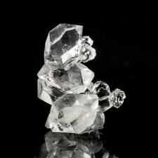 """1.0"""" Gem Clear HERKIMER DIAMOND Quartz Cluster 10 Twinned Crystals NY for sale"""