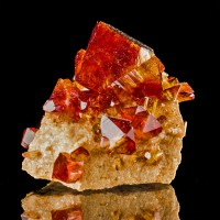 "3.1"" Pristine Sharp Dark Red ARKANITE Showy Lustrous Crystals Poland for sale"