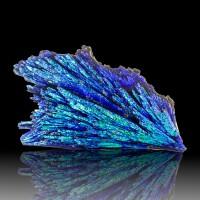 "3.4"" Flamboyant Vibrant Neon Turquoise Blue AQUA AURA KYANITE Brazil for sale"