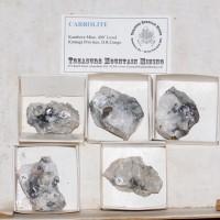 Wholesale Flat 5 pieces Metallic Silver CARROLITE Crystals Congo @$10 for sale