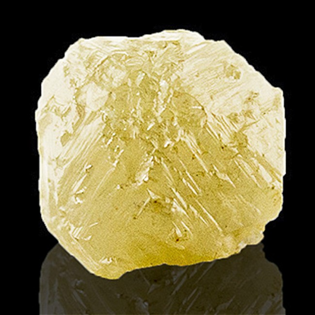 2.4carat Natural Uncut Golden Green Twinned Cubic DIAMOND CRYSTAL Congo for sale