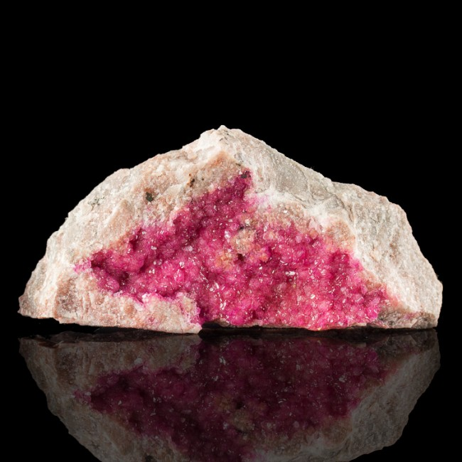 """3.9"""" Flashy Neon Pink COBALTOAN CALCITE Sparkling Gem Crystals Morocco for sale"""