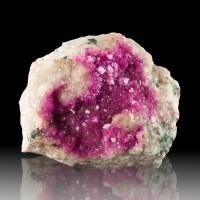 """2.3"""" Vivid Neon Magenta Pink COBALTOAN CALCITE Sparkly Crystals Morocco for sale"""