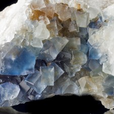 """4.6"""" BLUE FLUORITE Cubic Crystals to 1.1"""" Fishtail Prospect Bingham NM for sale"""