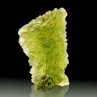"1.1"" 20ct Translucent Sea Green MOLDAVITE Meteorite Impact Glass Czech for sale"