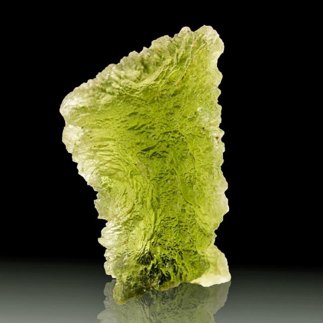 "1.1"" 20ct Translucent Sea Green MOLDAVITE Meteorite Impact Glass Czech for sale"