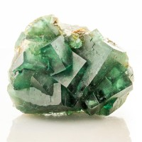 "2.9"" NEW Sharp Cubic Deep Green FLUORITE Crystals w-Phantoms Madagascar for sale"