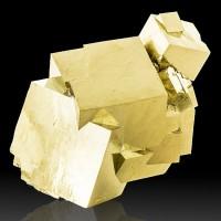 "4.4"" Flashy Mirror Bright 15 PYRITE Cluster Crystals to3"" Navajun Spain for sale"