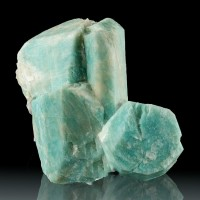 "3.1"" Aquamarine Blue AMAZONITE Sharp Terminated Crystal Group Colorado for sale"