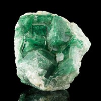 "4.5"" Gemmy GREEN PHANTOM FLUORITE Sharp Cubic Crystals Madagascar New for sale"