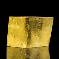 "3.3"" Honey Gold Gem YELLOW ICELAND SPAR Sharp Polished Cleavage Brazil for sale"
