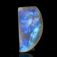 "1.5"" 70ct Iridescent NeonBlue RAINBOW MOONSTONE Polished Cabachon India for sale"