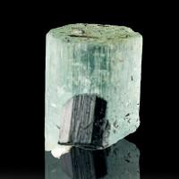 ".8"" Gem Turquoise Blue AQUAMARINE Crystal w-Schorl Tourmaline Namibia for sale"