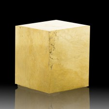 """2.2"""" PYRITE CUBE Near Perfect Single Crystal Bright Brassy Gold Spain for sale"""
