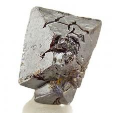 11mm MetallicSilverBlack Octahedral CUPRITE SharpSingle Crystal Siberia for sale