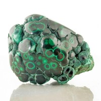 "2.9"" Smooth Shiny POLISHED MALACHITE Light & DarkGreen Bulls Eyes Congo for sale"