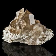 "4.3"" Gem Clear SMOKY QUARTZ Sharp Terminated Crystals Mont Blanc France for sale"