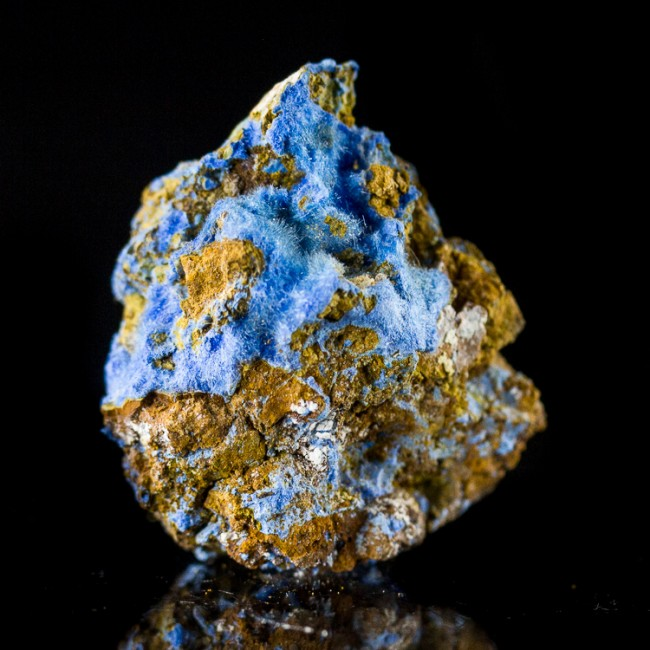 "1.0"" Hairy Neon Blue CYANOTRICHITE Crystals Mined in Grand Canyon 1970s for sale"