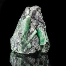 """2.6"""" Sharp Sea Green EMERALD Crystals in Black Limestone Matrix Brazil for sale"""
