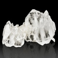"""2.6"""" Water Clear FADEN QUARTZ Sharp Crystals with White Line Pakistan for sale"""