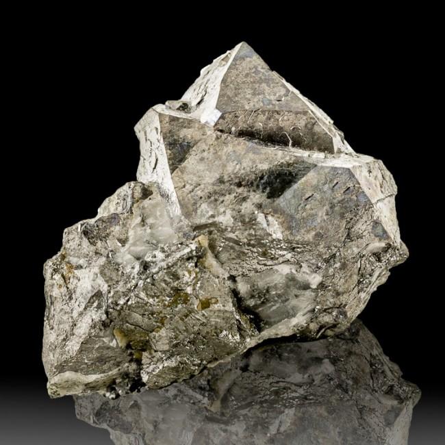 """1.8"""" Shiny Metallic Silver SKUTTERUDITE Crystals Rare CobaltOre Morocco for sale"""