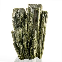 "2.1"" Dark Green EPIDOTE Sharp Lustrous Terminated Crystals to 1.9"" Peru for sale"