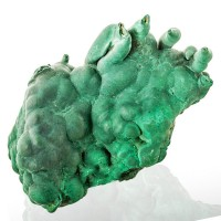 "3.5"" Saturated Green Drippy MALACHITE STALACTITES w-Holes in Tip Congo for sale"