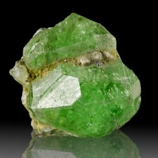 18mm 19.7ct Gemmy TSAVORITE GARNET Crystal Saturated NeonGreen Tanzania for sale
