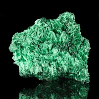 "2.7"" Iridescent Green Acicular Silky FIBROUS MALACHITE Crystals Congo for sale"