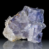 "2.4"" Gem Clear BLUE FLUORITE Glassy Cubic Crystals Jaimina Mine Spain for sale"