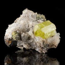 """2.4"""" Gem Sunny GOLDEN APATITE Sharp Terminated Crystal on Matrix Mexico for sale"""