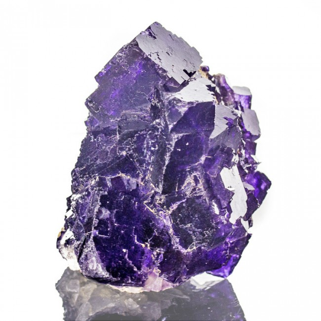 "3.2"" Grape Purple MUZQUIZ FLUORITE Sharp Shiny Cubic Crystals Mexico for sale"