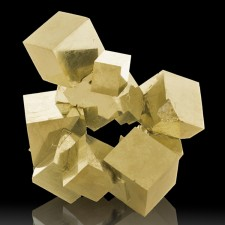 """4.3"""" Interlocked Cluster of12 Sharp Cubic PYRITE Crystals to 2.1"""" Spain for sale"""