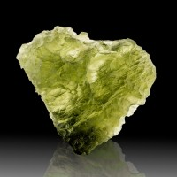 "1"" 19ct Heart Shaped GEM MOLDAVITE Tektite Meteorite Impact Glass Czech for sale"