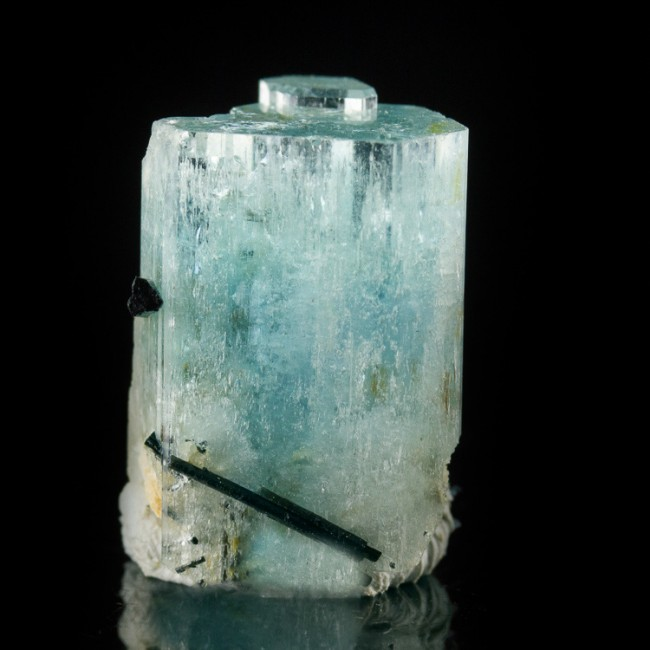 """.9"""" 39ct See-Through Gem-Top Turquoise-Blue AQUAMARINE Crystal Namibia for sale"""