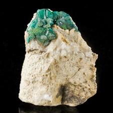 """1.9"""" Dark Green Sparkling Gemmy DIOPTASE Crystals AltynTyube Kazakhstan for sale"""