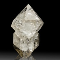 "1.9"" Rainbow Filled Double Terminated HERKIMER DIAMOND Crystal New York for sale"