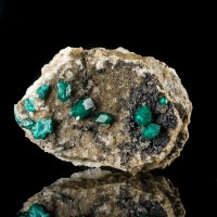 """2.2"""" Sparkly EmeraldGreen DIOPTASE Sharp Crystals AltynTyube Kazakhstan for sale"""