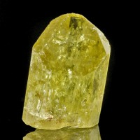 ".9"" Sharp Lustrous Gemmy Lemon GOLDEN APATITE Terminated Crystal Mexico for sale"