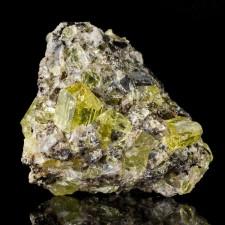 """2.1"""" Lemon Yellow Terminated APATITE CRYSTALS to .8"""" on Matrix Durango Mexico"""