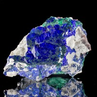"2.8"" Milpillas AZURITE w-MALACHITE Deep Blue Crystals in Matrix Mexico for sale"