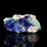 "3"" Flashing Intense Navy Blue AZURITE CRYSTALS w-Green Malachite Mexico for sale"