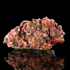 """5.2"""" Deep Red Lustrous REALGAR Large Terminated Crystals on Matrix Peru for sale"""
