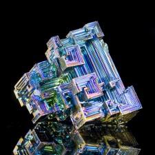 "2.7"" Gaudy Flashy Flamboyant Rainbow BISMUTH Hoppered Crystals England for sale"