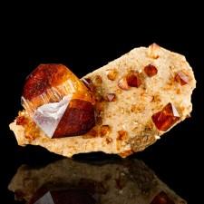 "2.8"" Pristine Sharp Dark Red ARKANITE Showy Wet-Look Crystals Poland for sale"