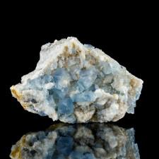 "3.6"" Glory Hole BLUE FLUORITE Sharp Lustrous Cubic Crystals Bingham NM for sale"