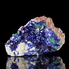 "6"" Super Glassy Blue AZURITE Crystals with MALACHITE Milpillas Mexico for sale"