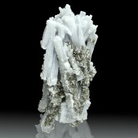 """3.8"""" Cluster of Terminated PastelBlue ANHYDRITE Crystals+CALCITE Mexico for sale"""